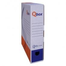 Scatola archivio in cartone QBOX 25x33 cm - dorso 8 cm bianco 8008.1600