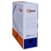 Scatola archivio in cartone QBOX 25x33 cm - dorso 10 cm bianco 8010.1600