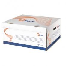 Contenitore con coperchio in cartone QBOX 39,5x45x28 cm bianco 8800.1800