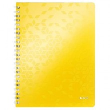 Blocco a quadretti 80 fogli Leitz WOW in PPL A4 giallo metallizzato 46380116