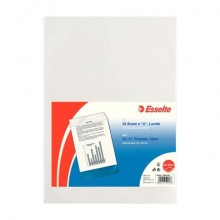 Buste a U ESSELTE Deluxe trasparente 23x33 cm conf. 25 pezzi - 395901300