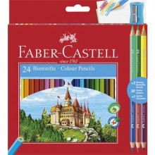 Matite colorate Faber-Castell Eco Il Castello Conf. 24 + 3 Bicolor - 110324