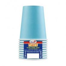 Bicchieri di carta - 240 ml Dopla azzurro conf. 10 pezzi - 22053