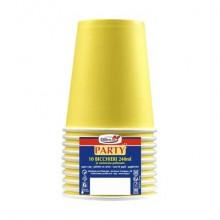 Bicchieri di carta - 240 ml Dopla giallo  conf. 10 pezzi - 22055