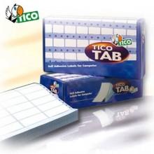 Etichette bianche a modulo continuo TICO Tab 1 corsia 127x36,2 mm 500 fogli - TAB1-1273