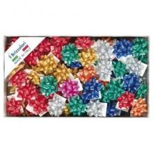 Stelle adesive per pacchi regalo Brizzolari 6,5 mm Ø 35 mm assortiti opaco  conf. 100 - 2900