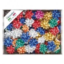 Stelle adesive per pacchi regalo Brizzolari 10 mm Ø 50 mm assortiti opaco conf. 100 - 3000