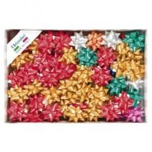 Stelle adesive per pacchi regalo Brizzolari 14 mm Ø 65 mm assortiti opaco conf. 100 - 3100