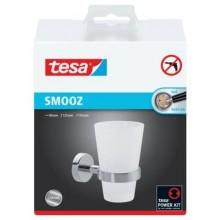 Bicchiere portaspazzolino tesa Smooz rimovibile e riposizionabile 40327-00000-00