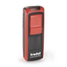 Timbri autoinchiostranti tascabili Trodat Pocket Printy 9512 47x18 mm nero/rosso - 149168