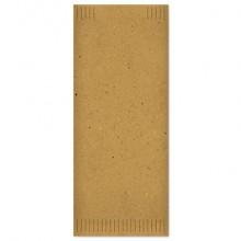 Buste portaposate Fato in cartapaglia con tovagliolo 2 veli avana Conf. 100 pezzi - 88207500