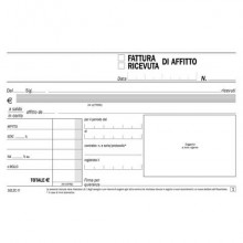 Blocco ricevute-fatture di affitto flex 10x16,8 cm - 50x2 copie autoricalcanti 1612C0000