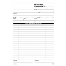 Blocco proposte di commissione flex A5 - 50x2 copie autoricalcanti 16382C0000