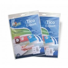 Etichette bianche scrivibili a mano TICO Export 38x25 mm bustina da 10 fogli - E-3825