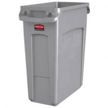 Contenitore rifiuti per differenziata Rubbermaid Slim Jim® con canali di ventilazione - 60 L Grey - 1971258