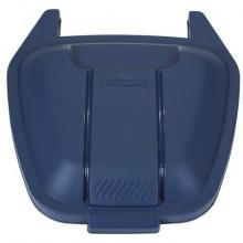 Coperchio per bidone portarifiuti Rubbermaid Mobile Bin 100 L blu R002223