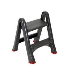 Scaletta pieghevole 2 scalini Rubbermaid 48,6 x 17,2 x 63 (a) cm grigio/rosso R034721