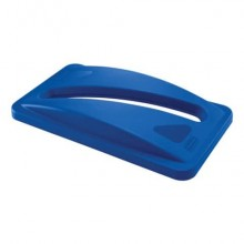 Coperchio per Slim Jim con foro a taglio per la carta Rubbermaid BLUE FG270388BLUE