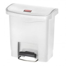 Contenitore in resina Rubbermaid Slim Jim® Step-On bianco 15 L 1883554