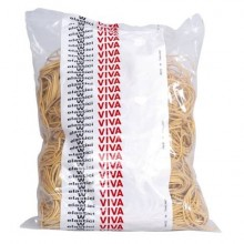 Elastici in gomma VIVA giallo diametro 150 mm Conf. 500 gr - E150-500