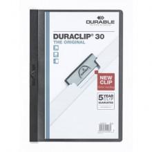 Cartellina con clip Durable DURACLIP® A4 - dorso 3 mm - capacità 30 fogli nero - 220001
