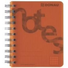 Quaderno spiralato Donau A6 a quadretti 5M - 140 fogli copertina arancio - 7527201-12