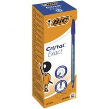 Penna a sfera con cappuccio BIC Cristal® Exact 0,7 mm blu 992605 (Conf.20)