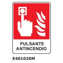 "Cartello antincendio ""Pulsante antincendio'' 25x31 cm Dixon Industries E401020M"