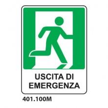 """Cartello di sicurezza """"Uscita di emergenza"""" - a destra 25x31 cm Dixon Industries - 401.100M"""
