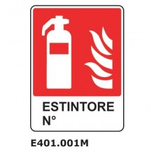 "Cartello antincendio""Estintore nr. EN ISO 7010"" Dixon Industries 25x31 cm E401.001M"