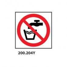"""Cartello di divieto """"Vietato bere acqua non potabile"""" Dixon Industries 33x33 cm - 200.204Y"""