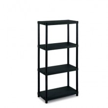 Scaffale a 4 ripiani TERRY Shelves 3060S/4 nero 1001610
