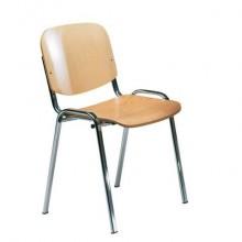 Sedia visitatore a 4 gambe Unisit Dado D5L in legno - struttura in acciaio conf. 2 pezzi - D5CL/2