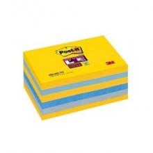 Foglietti riposizionabili Post-it® Super Sticky New York 76x127 mm giallo oro, ortensia e grigio cf 6 pz - 655-6SS- NY
