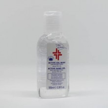 Gel igienizzante mani (alcol 70%) 100 ml - Active linea Bosco di Rivalta - flacone trasparente