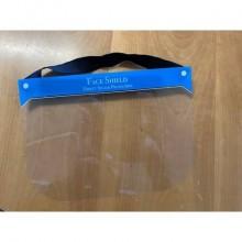 Visiera di protezione individuale in PVC lavabile e riutilizzabile - 28x20 cm trasparente - MAVIS002