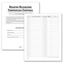 Registro operazioni per la rilevazione della temperatura corporea data ufficio 24 pagine 31x24,5 cm - DU3219TC100