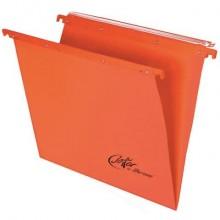 Cartelle sospese orizzontali per cassetti Linea Joker 33 cm fondo V - arancio conf. 25 pezzi 400/330 LINK - A2