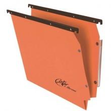 Cartelle sospese laterali per armadi Linea Joker 33 cm fondo V - arancio conf. 25 pezzi - 414F LINK - A2