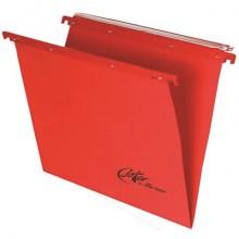 Cartelle sospese orizzontali per cassetti Linea Joker 39 cm fondo V - rosso conf. 25 pezzi - 400/395 LINK - A4