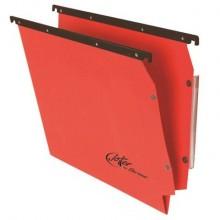 Cartelle sospese laterali per armadi Linea Joker 33 cm fondo V - rosso conf. 25 pezzi - 414F LINK - A4
