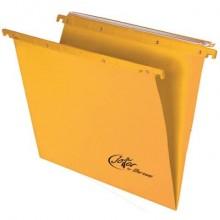 Cartelle sospese orizzontali per cassetti Linea Joker 33 cm fondo V - giallo conf. 25 pezzi 400/330 LINK - A5