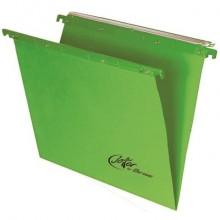 Cartelle sospese orizzontali per cassetti Linea Joker 39 cm fondo V - verde conf. 25 pezzi 400/395 LINK - A6
