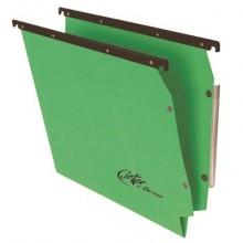 Cartelle sospese laterali per armadi Linea Joker 33 cm fondo V - verde conf. 25 pezzi - 414F LINK - A6