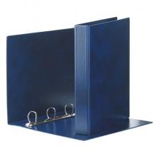 Raccoglitore Esselte E53 PRESTIGE a 4 anelli a D 50mm PVC stampato da 0,3 mm blu 22x30 cm dorso 7,5 cm - 390553050