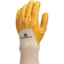 Guanto da lavoro Delta Plus nitrile leggero dorso aerato giallo taglia 9 - NI01509