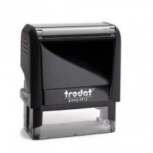 Timbro autoinchiostrante personalizzabile a 5 righe TRODAT PRINTY 4912 in plastica 47x18 mm nero - 43071