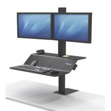 Postazione di lavoro Fellowes Lotus™ VE Sit-Stand - Doppia nero 8082001