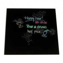 Lavagnette adesive roll-up VIVA Memo nero ardesia 25x25 cm Conf. 3 pezzi - 890