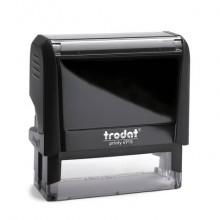 Timbro autoinchiostrante personalizzabile a 7 righe TRODAT PRINTY 4915 in plastica 70x25 mm nero - 47587
